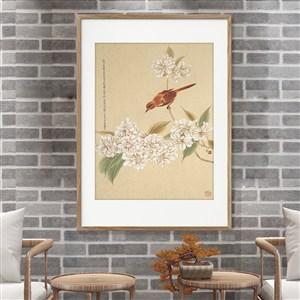 中式工筆畫花鳥裝飾畫