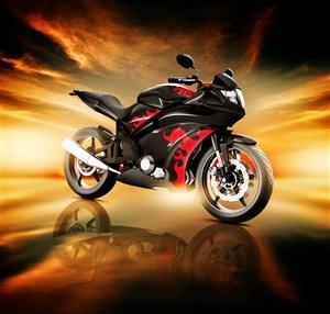 炫酷造型摩托车高清摄影图片