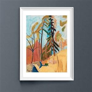 現代油畫風景裝飾畫