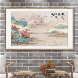 寧靜致遠淡雅文藝中式裝飾畫