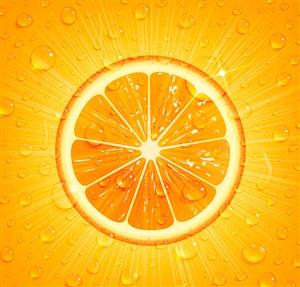 矢量橙汁水果背景