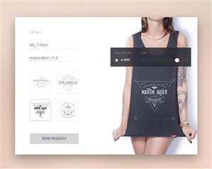 服裝網站UI界面設計APP