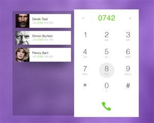 拨号联系人手机APP界面